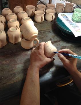 Chiang Mai Céladon - Dekore vorzeichnen