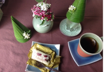 C#eladon gedeck mit Reisdessert